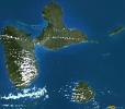 Vue satellite de la Guadeloupe