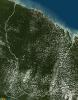 Vue satellite de la Guyane