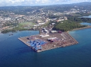 Les bananes quittent la Martinique par le port de Fort de France vers l'Europe continentale