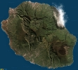 Vue satellite de la Réunion