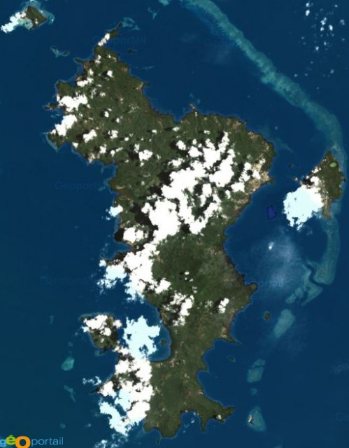 Vue satellite de Mayotte